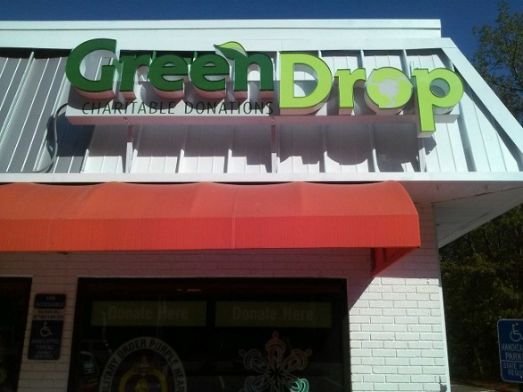 Green Drop Channel Letters Unlimited Signs