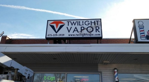 Lightbox Cabinet Signs for Vape Shops in Danbury and Bethel CT
