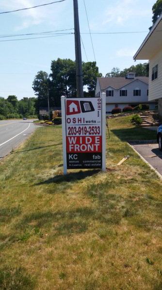 Real Estate Signs in Ridgefield CT