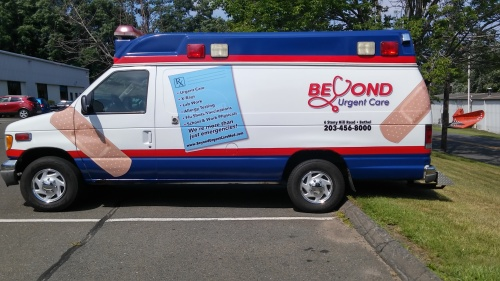 Vehicle Wraps for Urgent Care Centers in Bethel CT