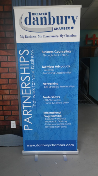 retractable banner stand uses in Danbury CT