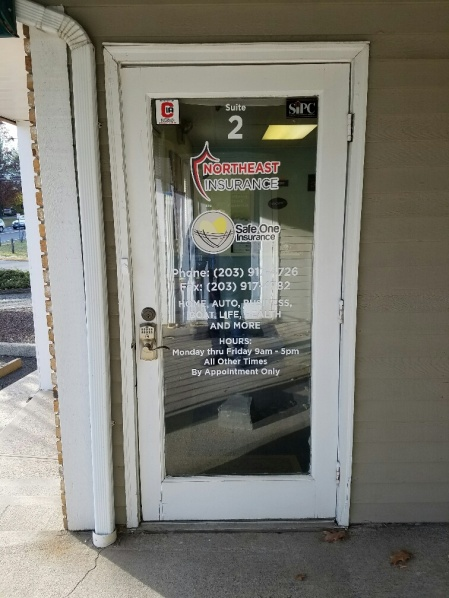 door graphics and tenant panel signs in Danbury CT