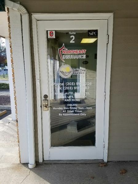 door graphics and tenant panel signs in Danbury CT