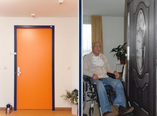 Vinyl Door Graphics Soothe Seniors in Assisted Living Centers in Connecticut