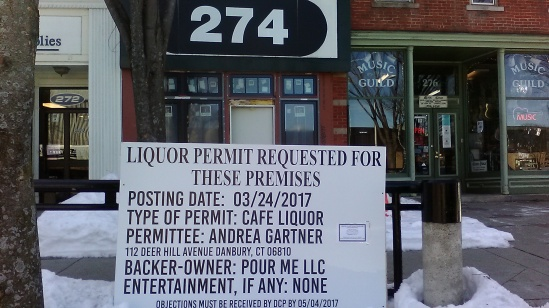 Liquor License Disclosure Signs in Danbury CT