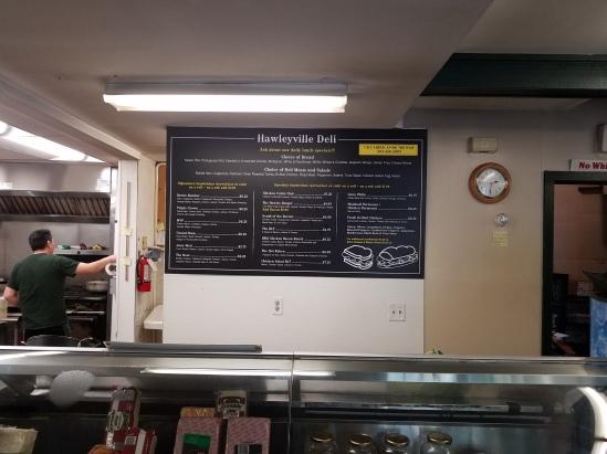 hawleyville menu board